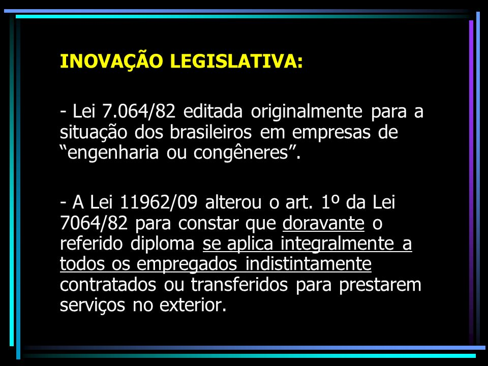 INOVAÇÃO LEGISLATIVA: