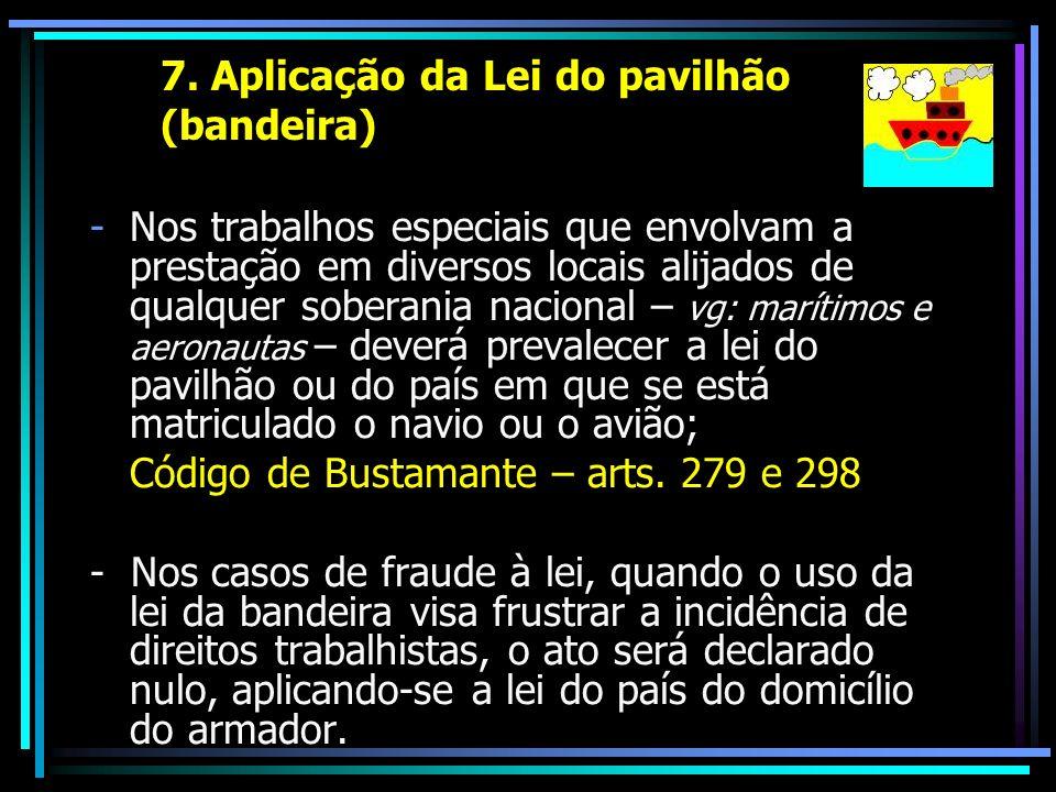 7. Aplicação da Lei do pavilhão (bandeira)