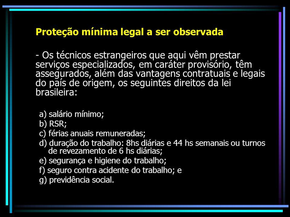 Proteção mínima legal a ser observada