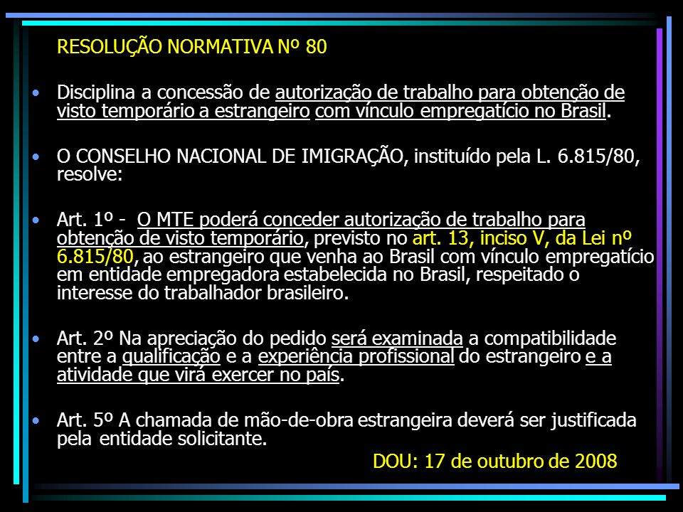 RESOLUÇÃO NORMATIVA Nº 80