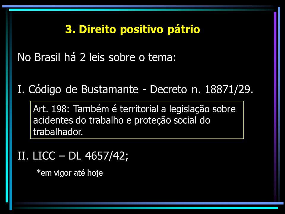 3. Direito positivo pátrio