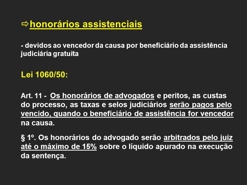 honorários assistenciais