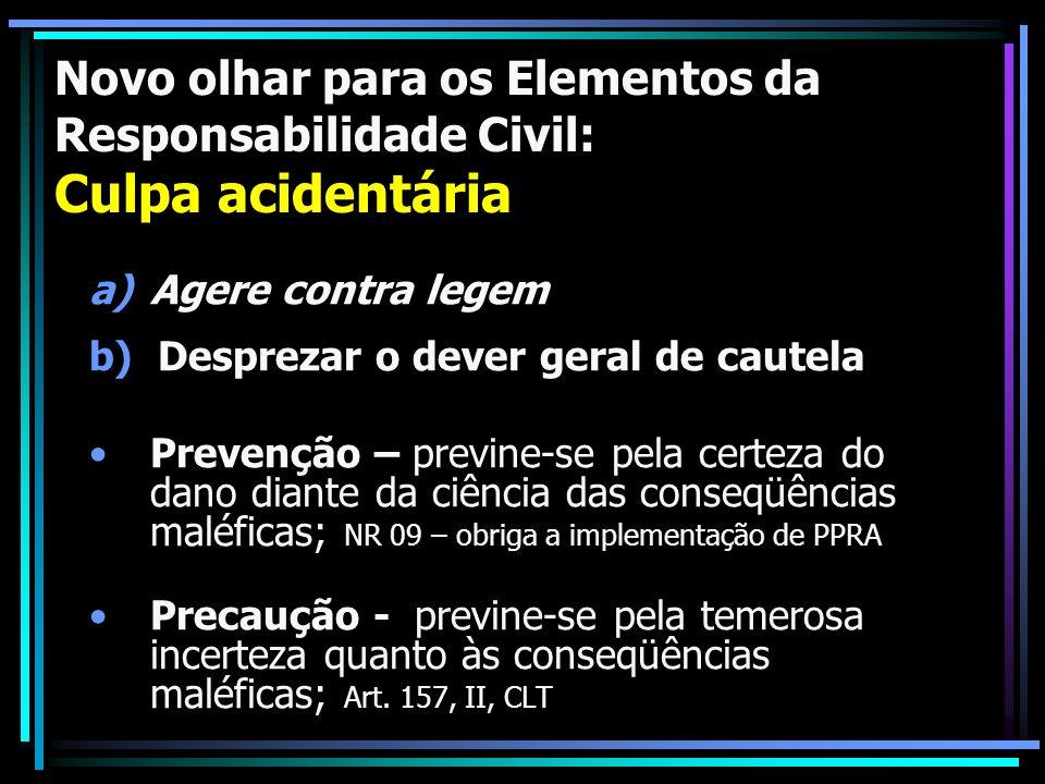 Novo olhar para os Elementos da Responsabilidade Civil: Culpa acidentária