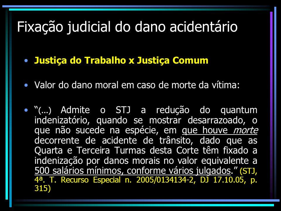 Fixação judicial do dano acidentário