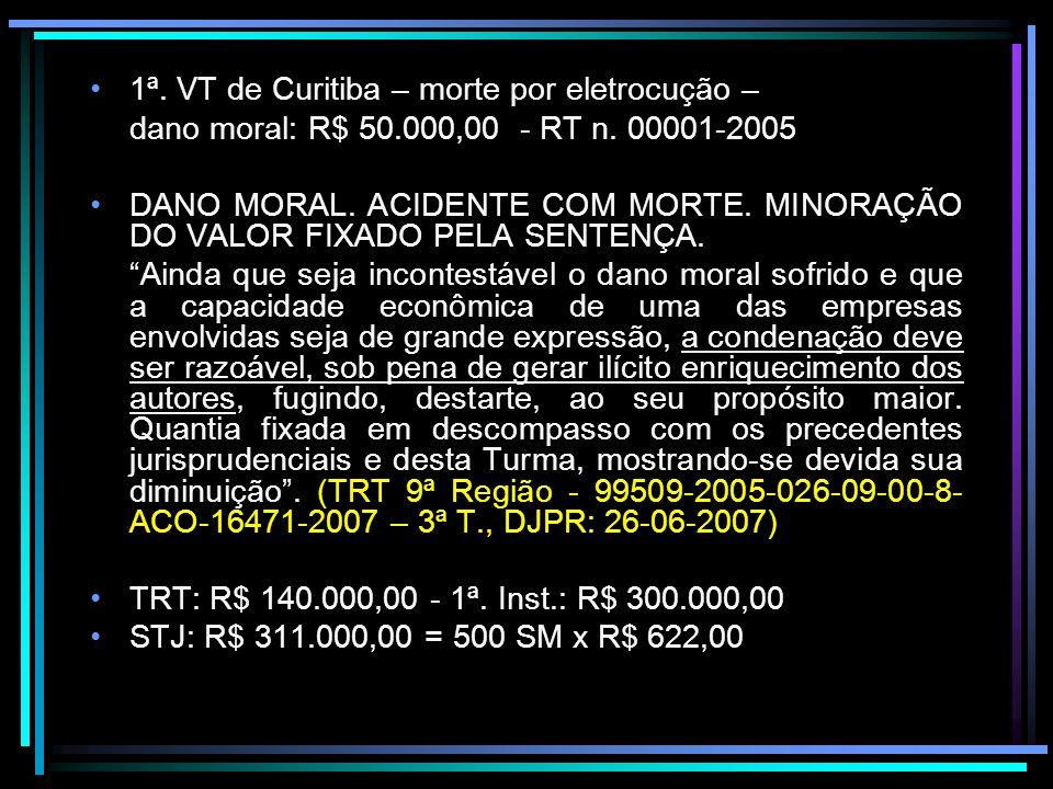 1ª. VT de Curitiba – morte por eletrocução –