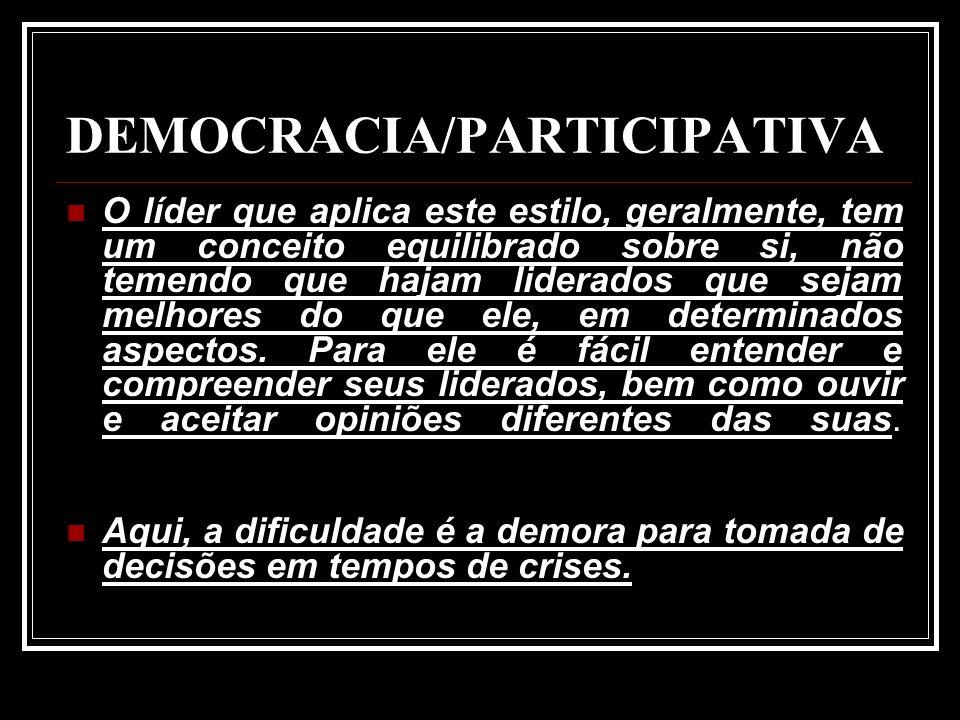 DEMOCRACIA/PARTICIPATIVA