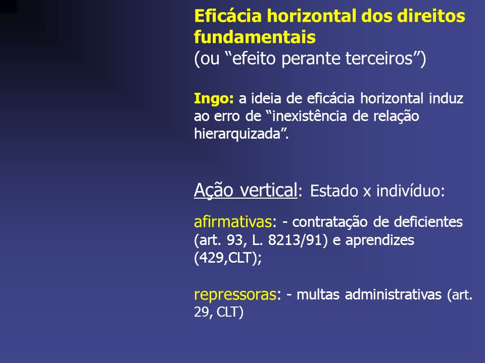 Ação vertical: Estado x indivíduo: