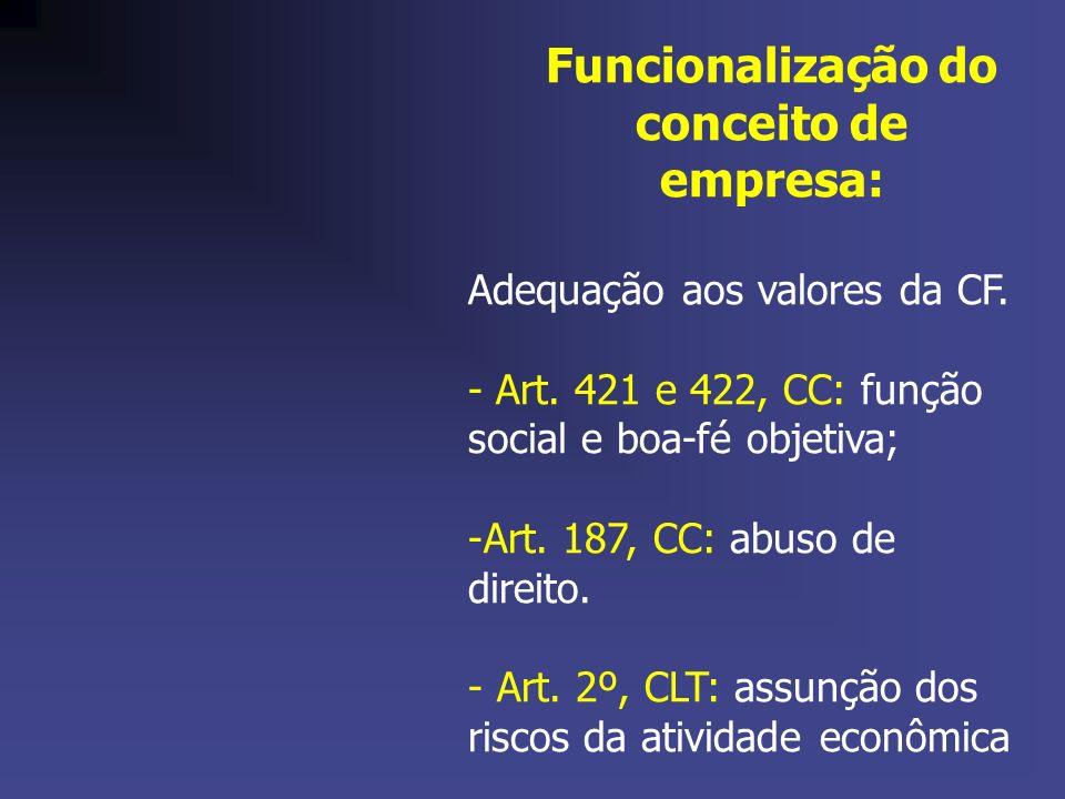 Funcionalização do conceito de empresa: