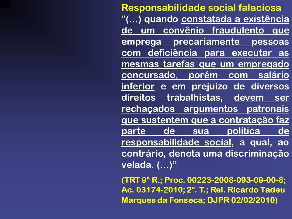 Responsabilidade social falaciosa