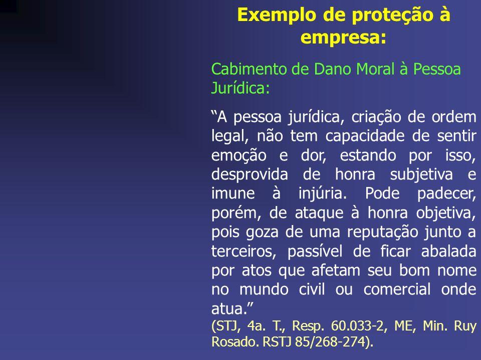 Exemplo de proteção à empresa: