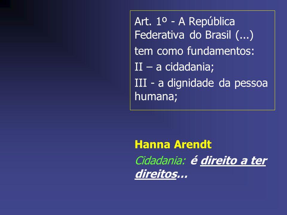 Art. 1º - A República Federativa do Brasil (...)