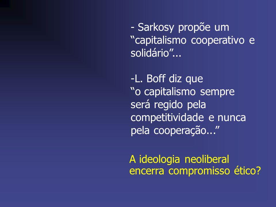 - Sarkosy propõe um capitalismo cooperativo e solidário ...