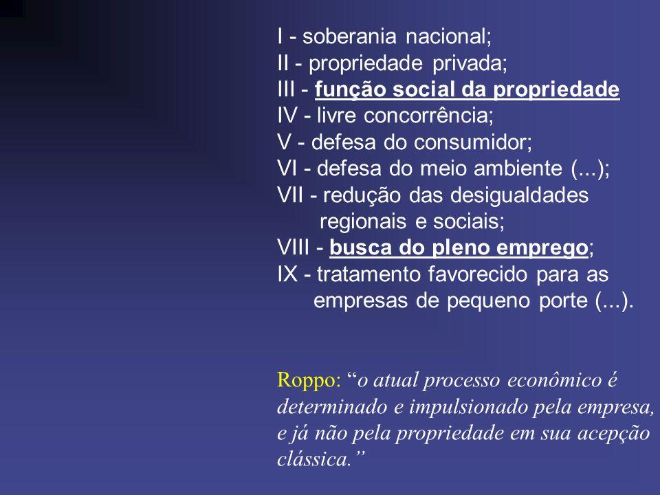 I - soberania nacional;