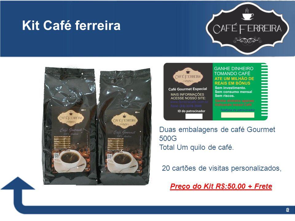 Kit Café ferreira Duas embalagens de café Gourmet 500G