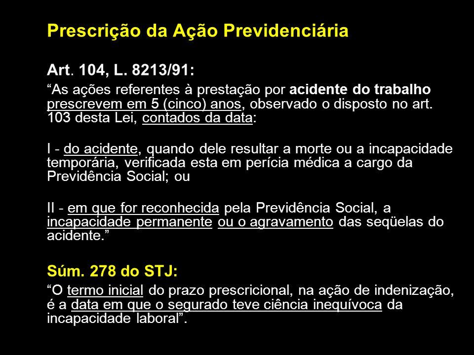 Prescrição da Ação Previdenciária