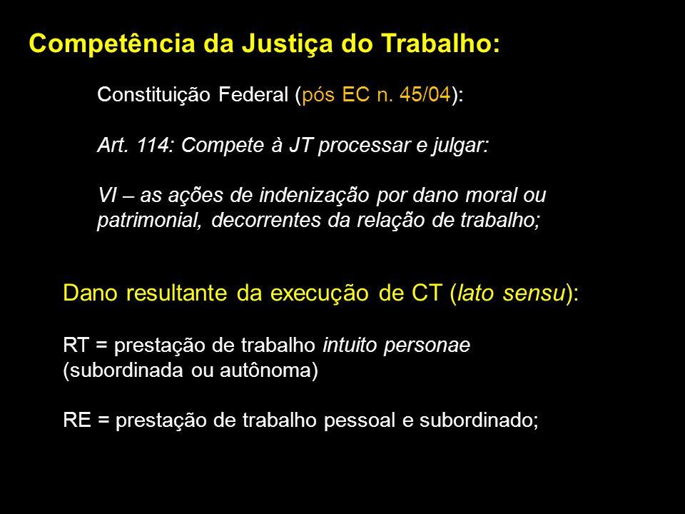 Competência da Justiça do Trabalho: