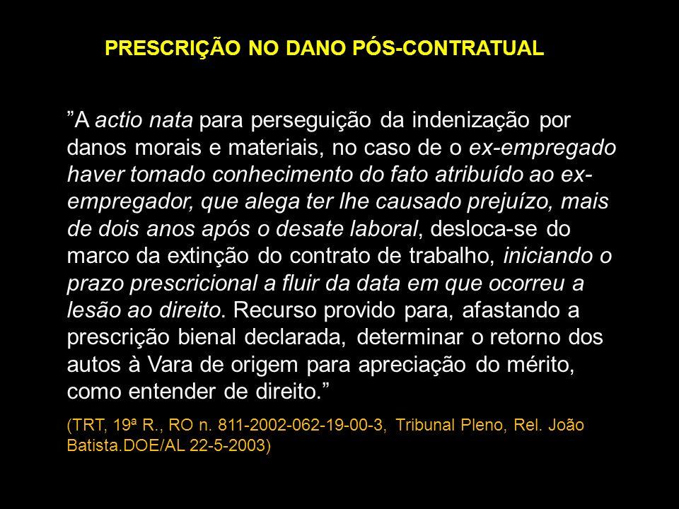 PRESCRIÇÃO NO DANO PÓS-CONTRATUAL