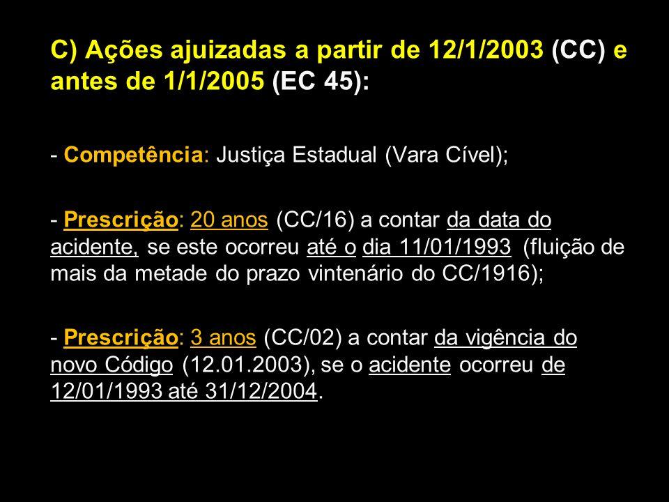 - Competência: Justiça Estadual (Vara Cível);