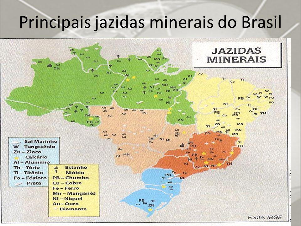 Principais jazidas minerais do Brasil