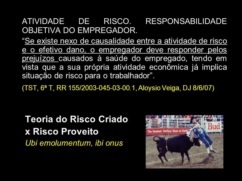 ATIVIDADE DE RISCO. RESPONSABILIDADE OBJETIVA DO EMPREGADOR.
