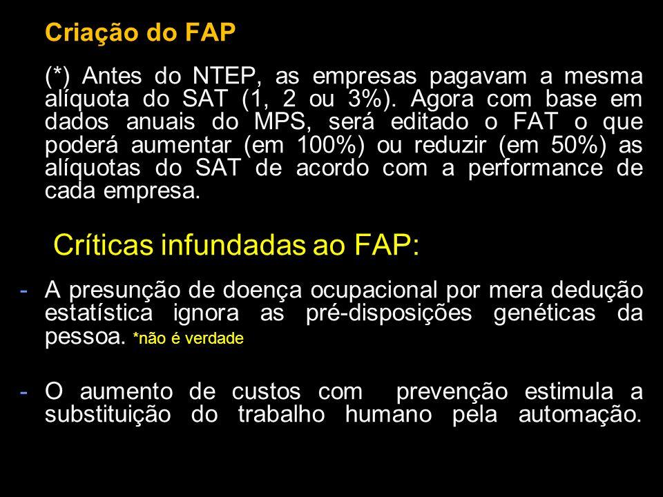 Críticas infundadas ao FAP: