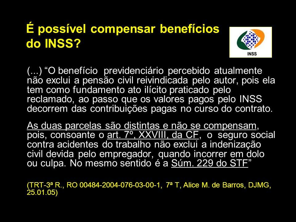 É possível compensar benefícios do INSS