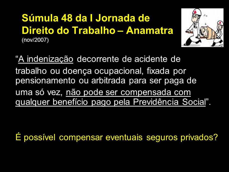 Súmula 48 da I Jornada de Direito do Trabalho – Anamatra (nov/2007)