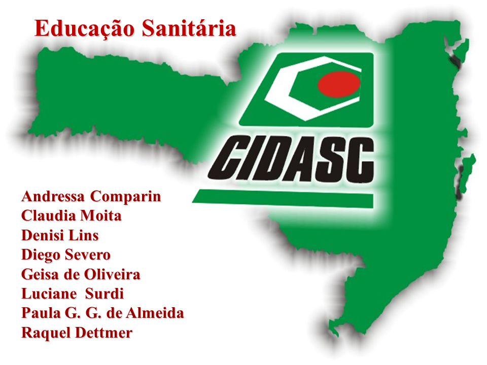 Educação Sanitária Andressa Comparin Claudia Moita Denisi Lins