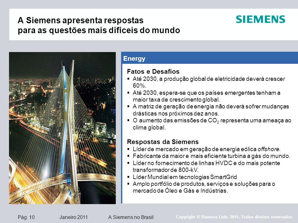 O Mundo Inteiro Espera A Resposta De Maria: A Siemens No Brasil Em 2011 A Empresa Status: Janeiro Ppt