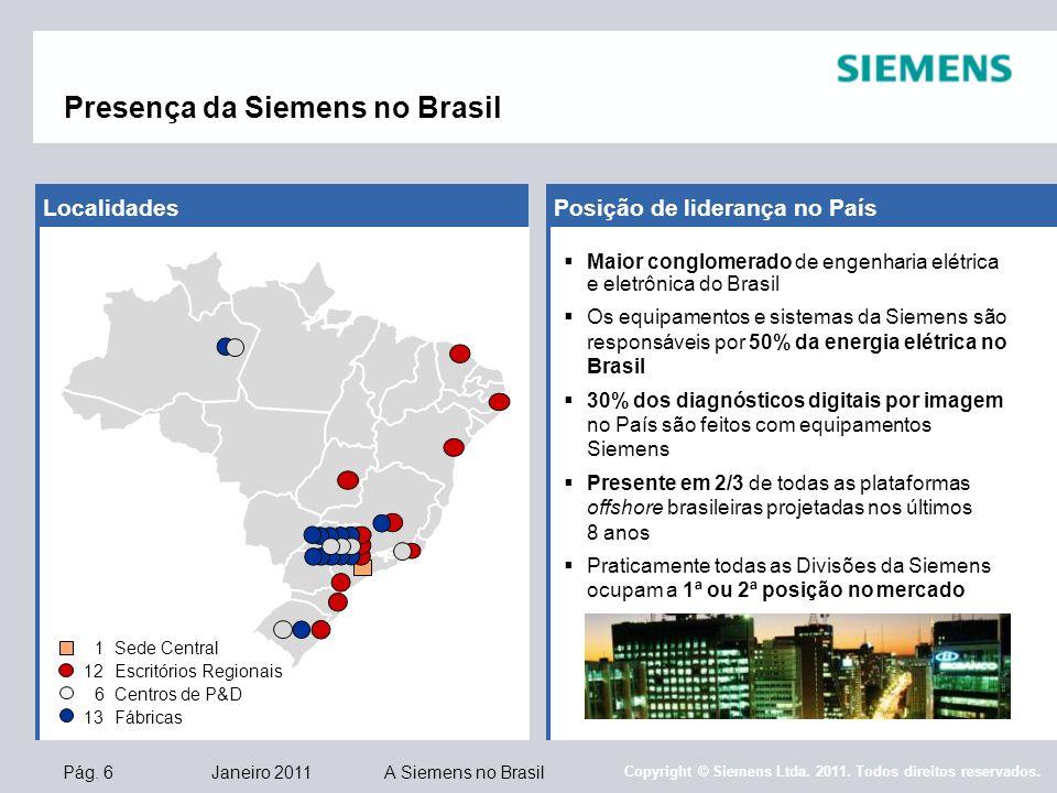 Presença da Siemens no Brasil