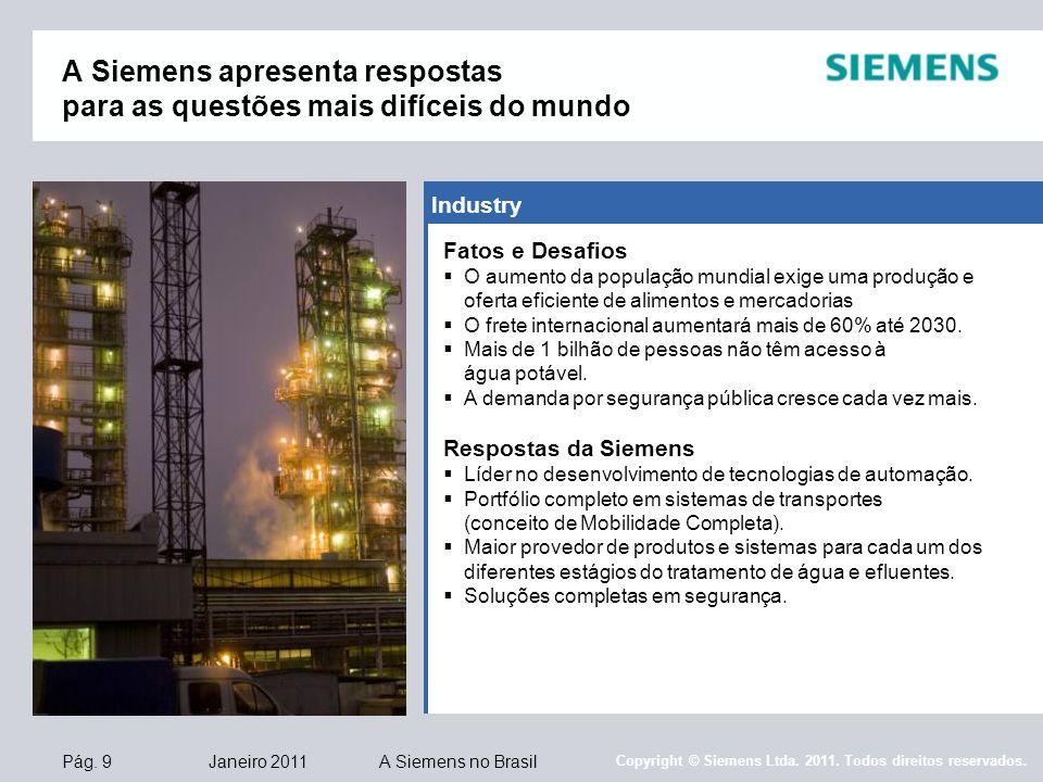 A Siemens apresenta respostas para as questões mais difíceis do mundo