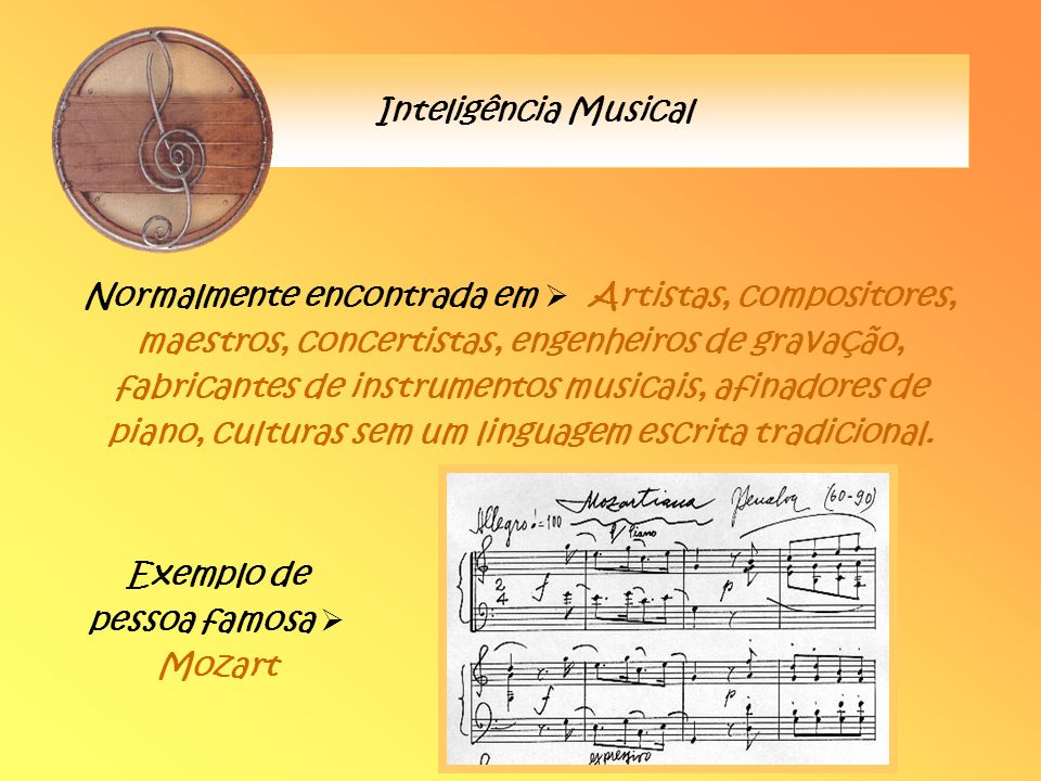 Exemplo de pessoa famosa  Mozart