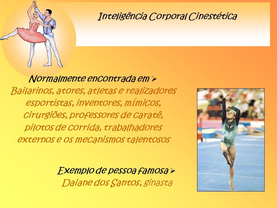 Exemplo de pessoa famosa  Daiane dos Santos, ginasta