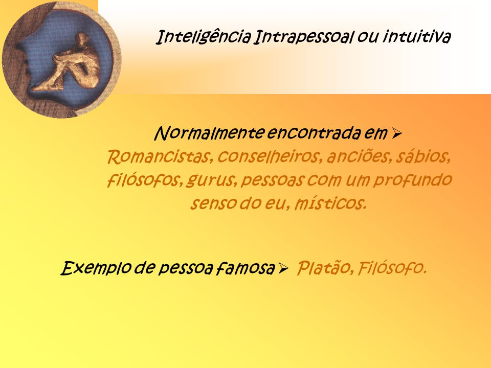Inteligência Intrapessoal ou intuitiva
