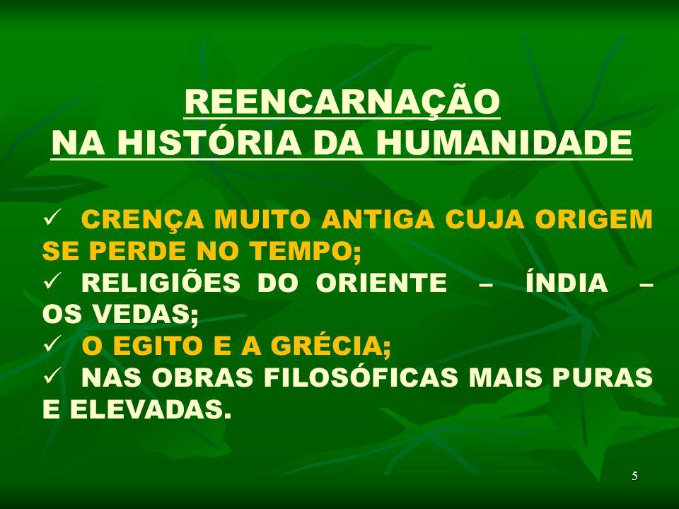 NA HISTÓRIA DA HUMANIDADE