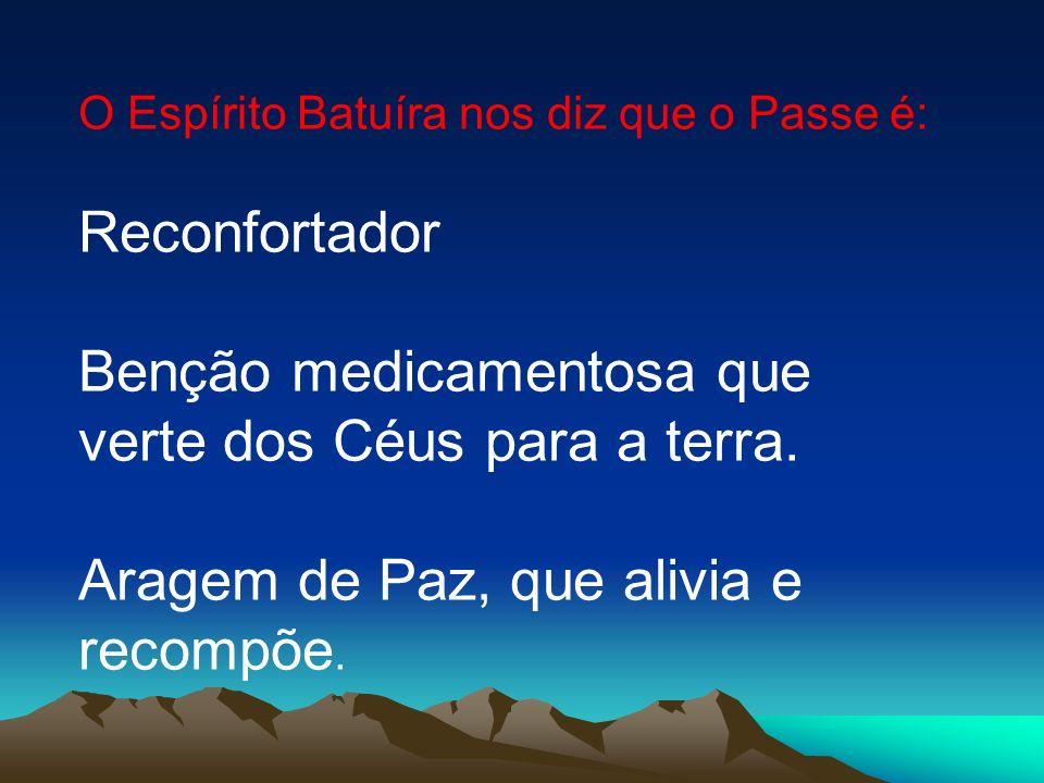 Benção medicamentosa que verte dos Céus para a terra.