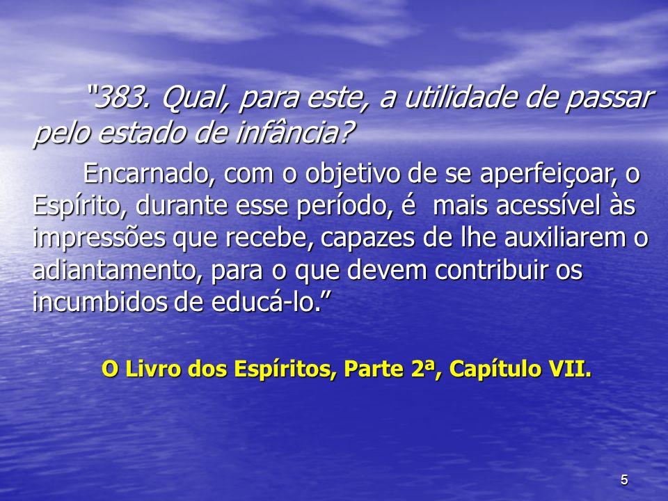 O Livro dos Espíritos, Parte 2ª, Capítulo VII.