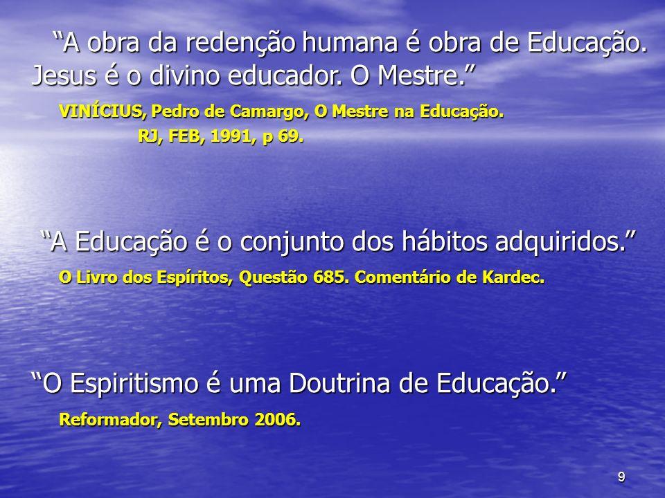 A obra da redenção humana é obra de Educação