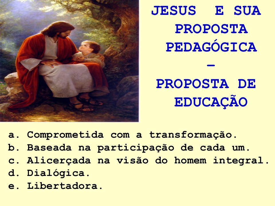 JESUS E SUA PROPOSTA PEDAGÓGICA –