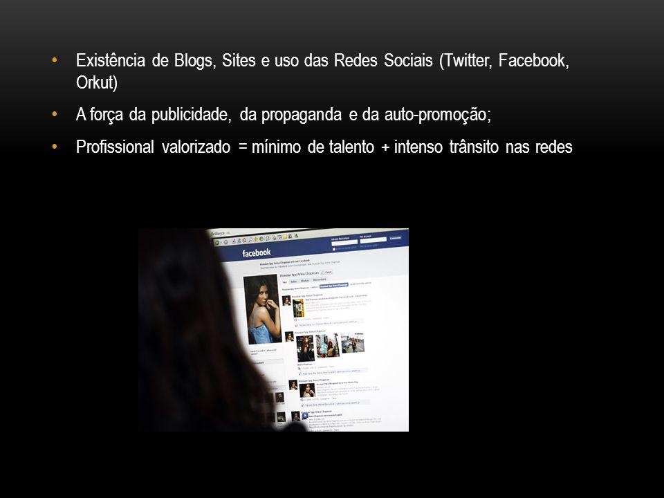 Existência de Blogs, Sites e uso das Redes Sociais (Twitter, Facebook, Orkut)