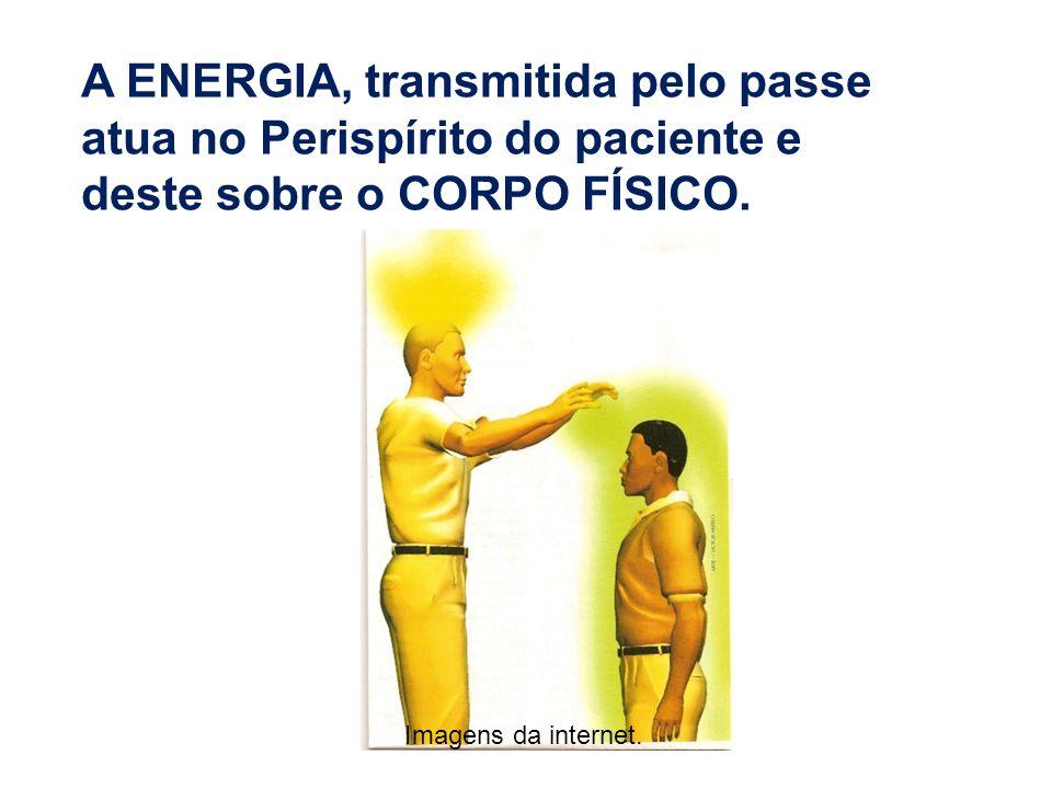 A ENERGIA, transmitida pelo passe atua no Perispírito do paciente e deste sobre o CORPO FÍSICO.