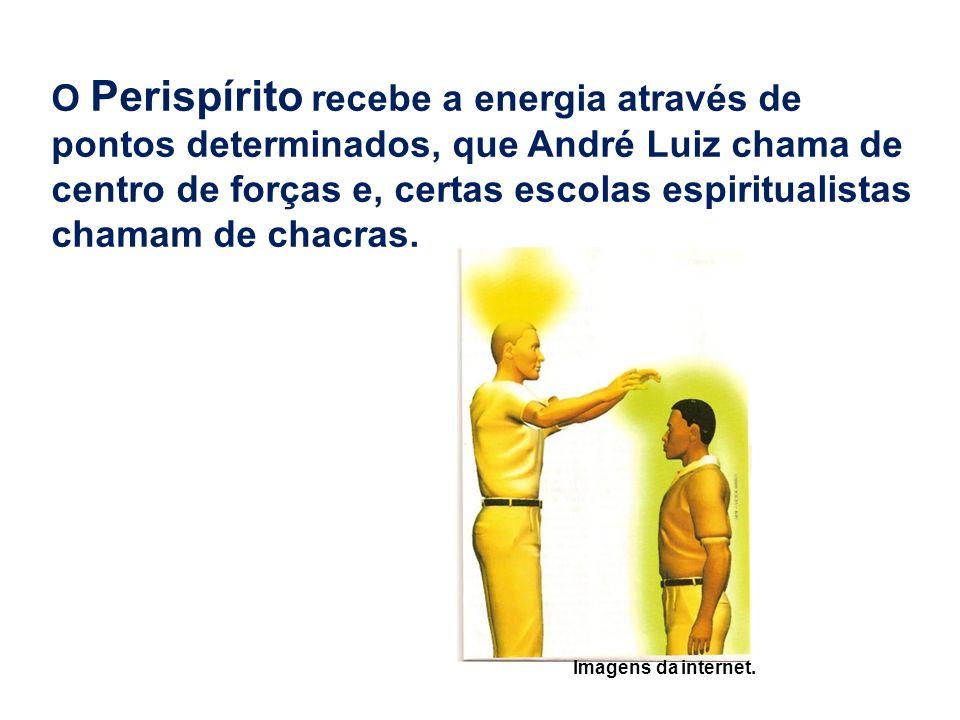O Perispírito recebe a energia através de pontos determinados, que André Luiz chama de centro de forças e, certas escolas espiritualistas chamam de chacras.