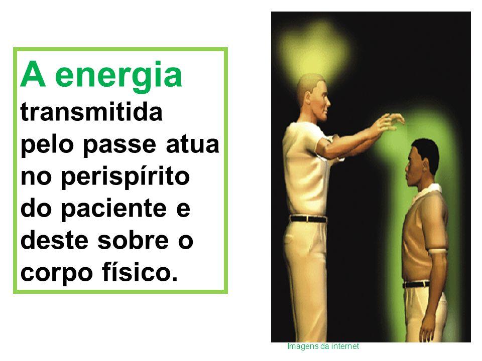 A energia transmitida pelo passe atua no perispírito do paciente e deste sobre o corpo físico.