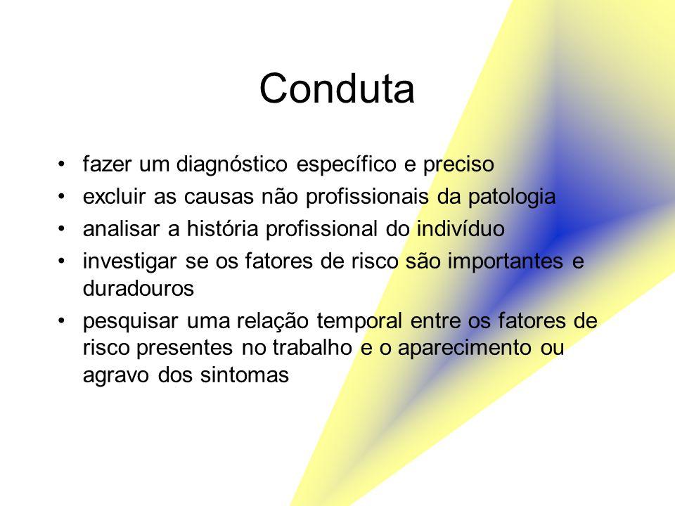 Conduta fazer um diagnóstico específico e preciso