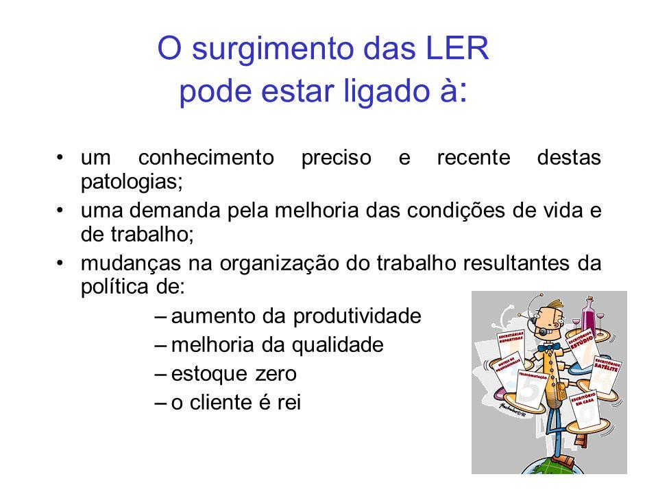 O surgimento das LER pode estar ligado à: