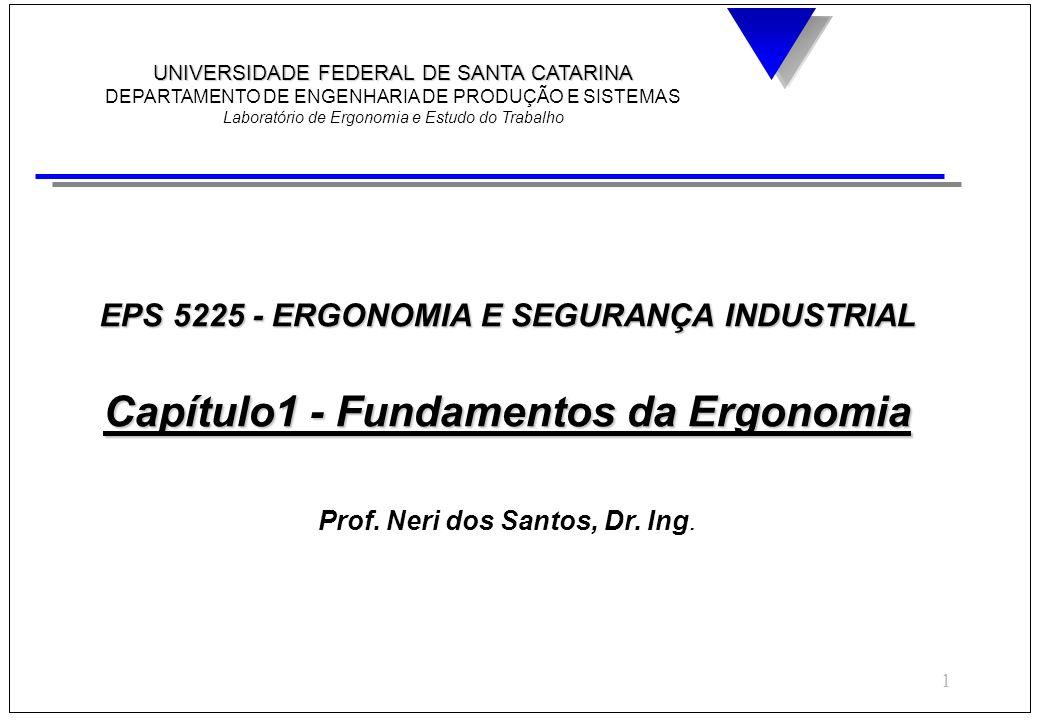 EPS 5225 - ERGONOMIA E SEGURANÇA INDUSTRIAL