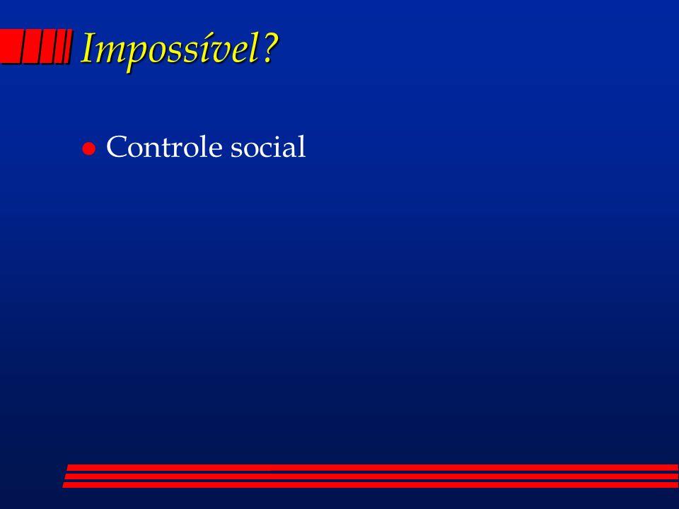 Impossível Controle social