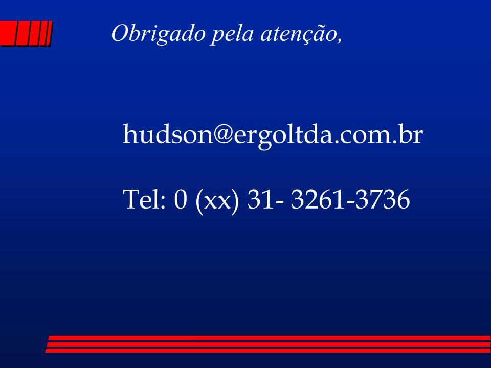 hudson@ergoltda.com.br Tel: 0 (xx) 31- 3261-3736