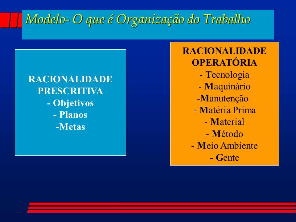Modelo- O que é Organização do Trabalho