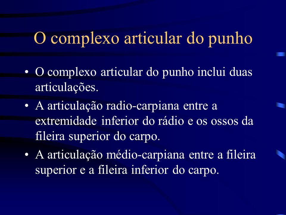 O complexo articular do punho